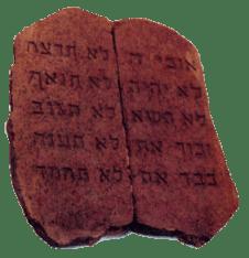 Ensinos dos 10 mandamentos, tábuas da lei