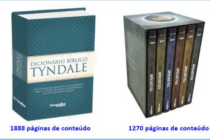 Sorteio de 1 Dicionário Bíblico Tyndale e 1 Série Apologética com 6 volumes