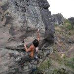Marco Jubes escalando en Colombia