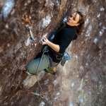 Marta Puig en El Chaneque 7a+ - Photo Andrew Burr