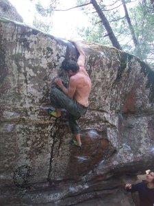 Matias escalando en Albarracin