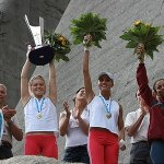 Podium de la prueba escalada velocidad de Val Daone 2006
