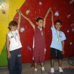 Podium masculino Copa Venezuela Infantil de Escalada en Velocidad 2007