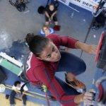 Campeona Rosmery Da Silva escalada en Velocidad