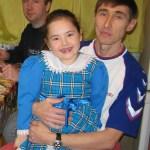 Zalia y su padre Salavat Rakhmetov