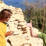Chris Sharma y Adam Ondra comparten beta - Foto Bernardo Gimenez