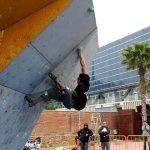 Alex Paz en la 2da Copa Catalana de Escalada en Bloque 2011 - Foto Villan Alayón