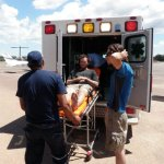 Traslado de Cory Nauman al hospital