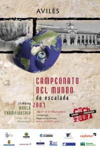 Poster Campeonato del Mundo de Escalada IFSC 2007 en Avilés