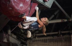 Maja Vidmar en la Copa del Mundo de Escalada en Dificultad UIAA Kranj 2006