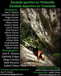 Esposición fotógrafica de escalada deportiva en Venezuela - Francia