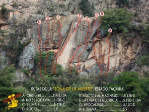 Guia de escalada zona de la muerte - Táchira Venezuela