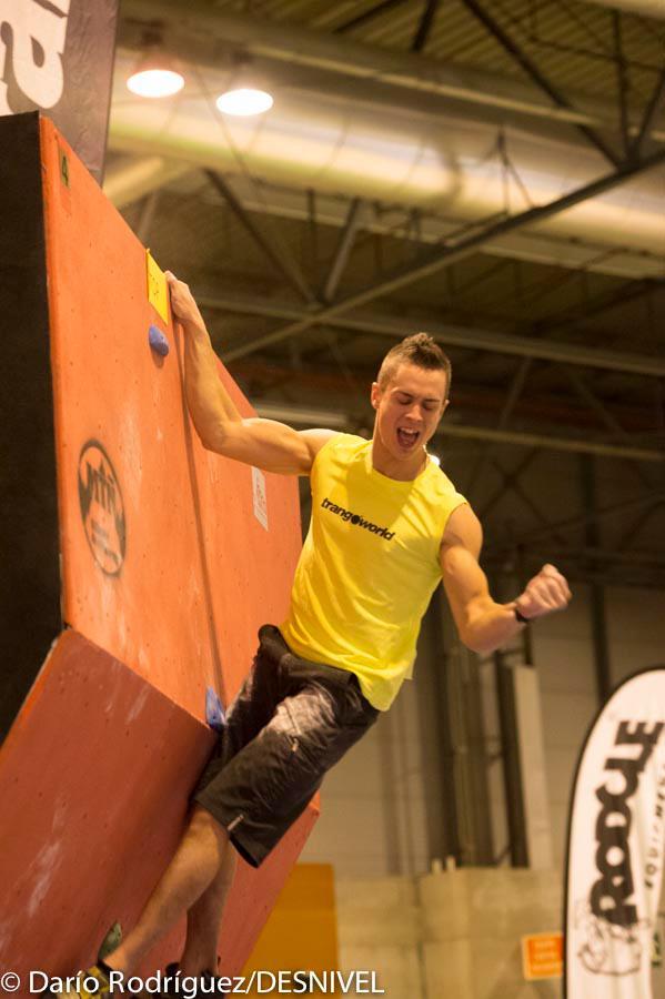 Eric Lopez Campeón Copa de España escalada en Boulder 2012