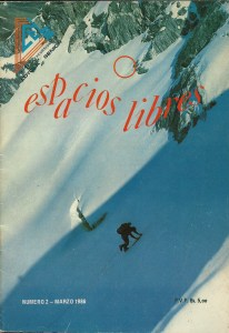 Revista Espacios Libres - Portada Andrés Reimpell Glaciar Este del pico Bolívar