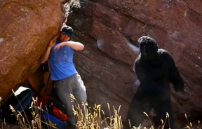 Video de Chris Schulte encaleta los crashpads bajo los boulder