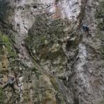 escaladores en el 1er maratón de Escalada Deportiva Azulita 2013