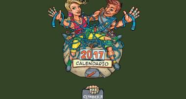 Calendario 2017 ilustraciones de escalada con Climber's Fingers