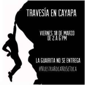 """Encuentro de escalada """"Travesía en Cayapa"""" La Guairita – Venezuela"""