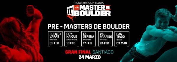 Calendario The North Face Pre Master de Boulder 2018 en Chile