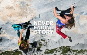 Video escalada multilargo: Barbara Zangerl y Nina Caprez escalando Neverending Story 8b+ en Suiza