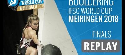 Video final Copa del Mundo Escalada Boulder IFSC 2018 en Meiringen - Suiza