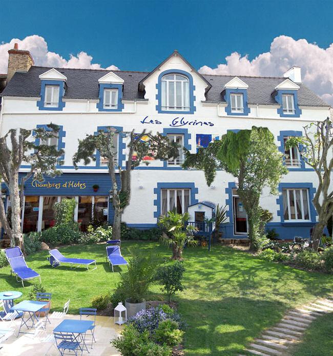 Les Glycines, maison d'hôtes de charme à Billiers (Bretagne) : jardin