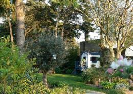 Les Glycines, Billiers (Morbihan) : jardin