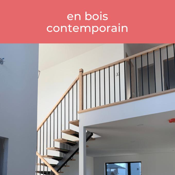 Escaliers en bois contemporain