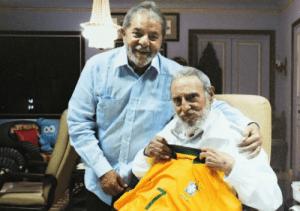 Da Silva junto a Fidel con su pulóver, el número 7.