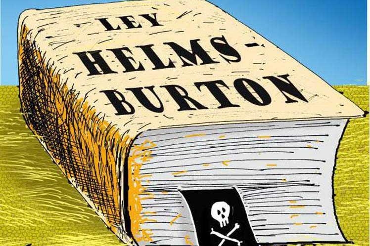 Resultado de imagen de cubanos contra la ley Helms Bruton