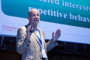 Jan Buitelaar speaking in the Auditorio.