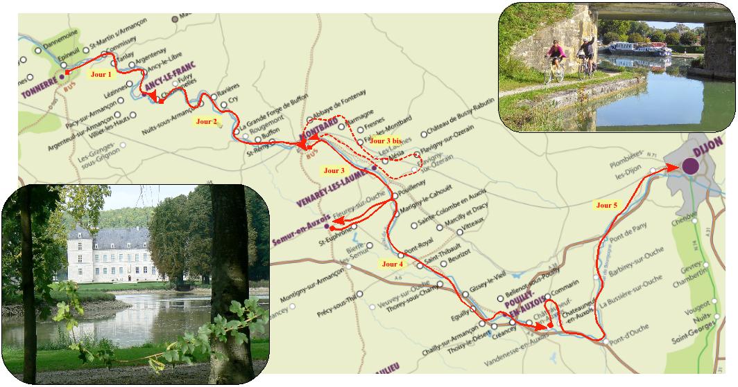 Splendeurs Du Canal De Bourgogne Vlo 5 Ou 6 Jours De Vlo