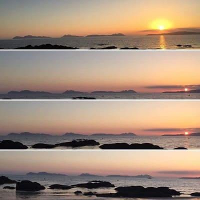 playas con puesta de sol Galicia