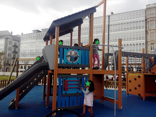 El nuevo parque infantil de la Marina, en A Coruña