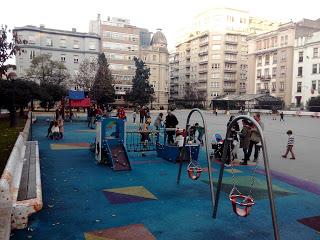 A Coruña con niños: el parque infantil de la Plaza de Vigo