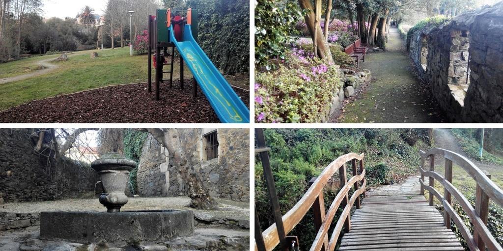 El jardín escondido de Montrove (Oleiros), con niños