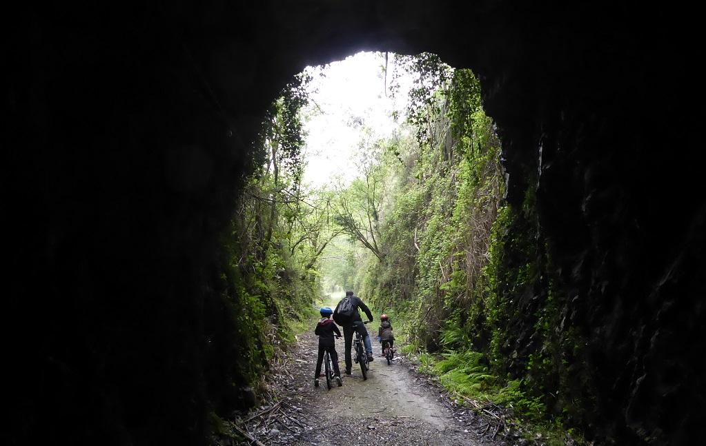 La ruta del ferrocarril de Villaodrid, en bici, con niños