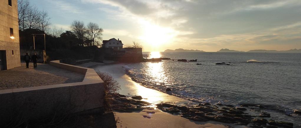 Puesta de sol desde el Museo do Mar de Vigo