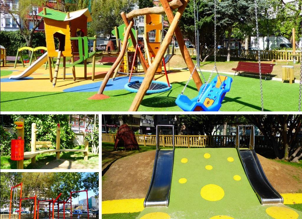 El parque infantil de Plaza de la Tolerancia