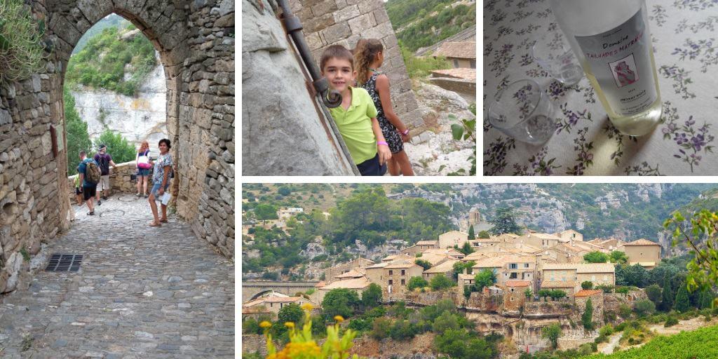 Minerve con niños: un pueblo en un peñasco
