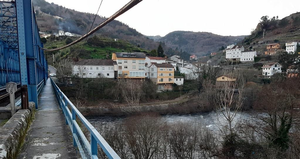 Puente sobre el Miño en Os Peares