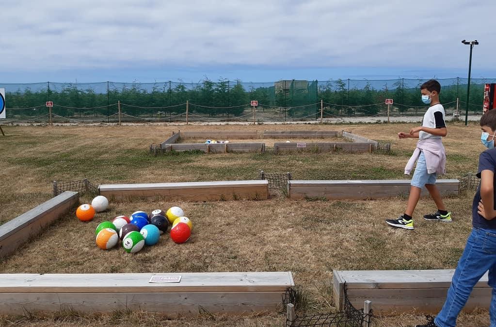 El parque del laberinto de Rinlo con niños