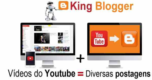 King blogger postagem automática - King Software inteligente no computador