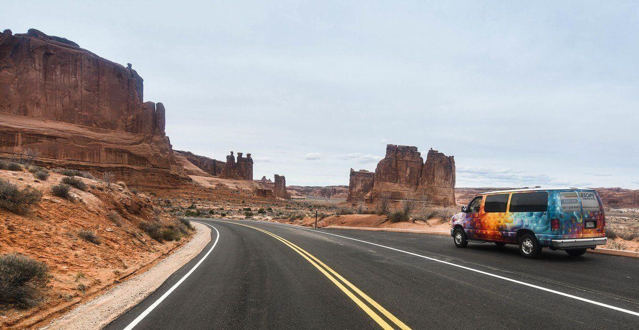 Arches National Park Moab Utah Campervan