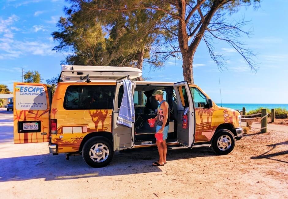 Bradenton Beach Manatee County Florida campervan trip
