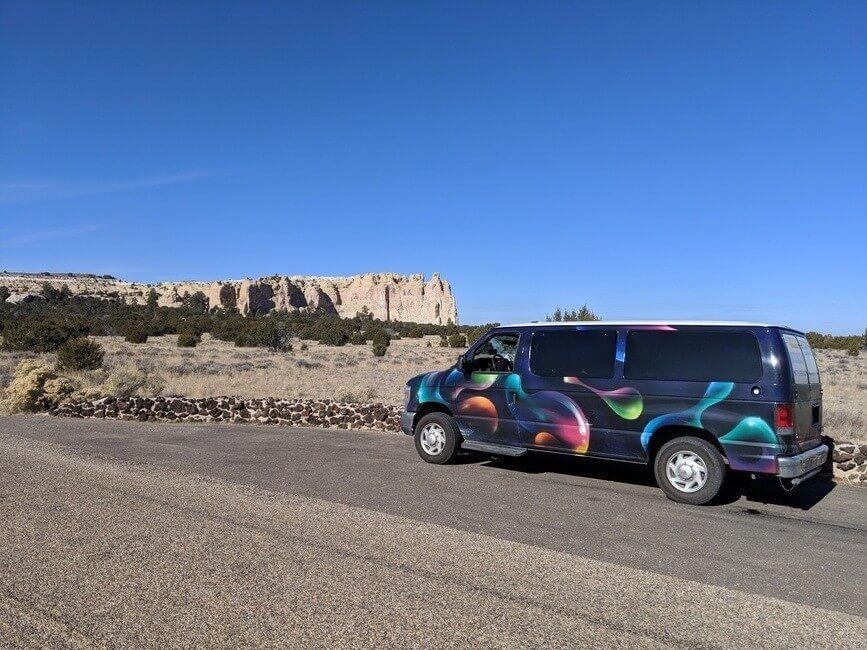El Morro National Monument Arizona campervan