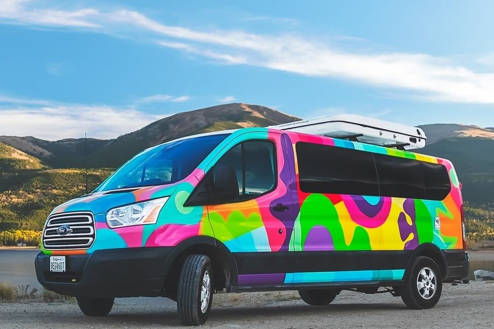 Escape Campervans Big Sur model exterior artwork