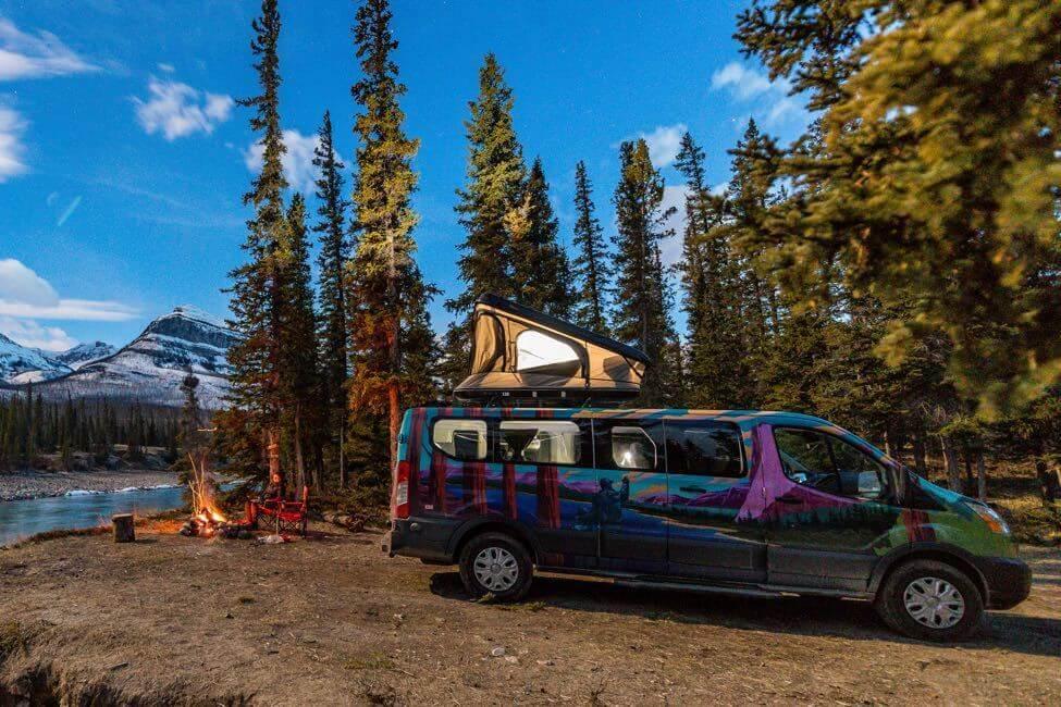 Escape Campervan in Rockies.