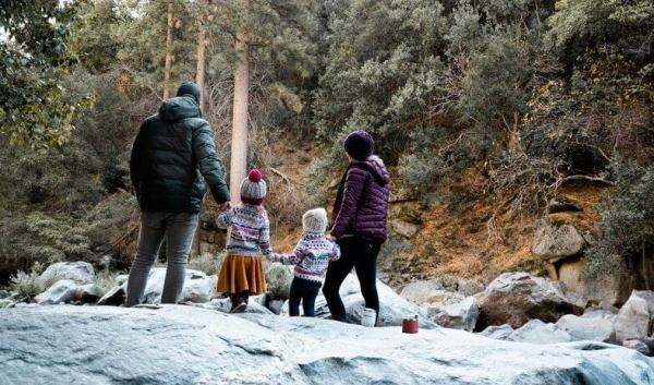 Family at Grizzly Falls