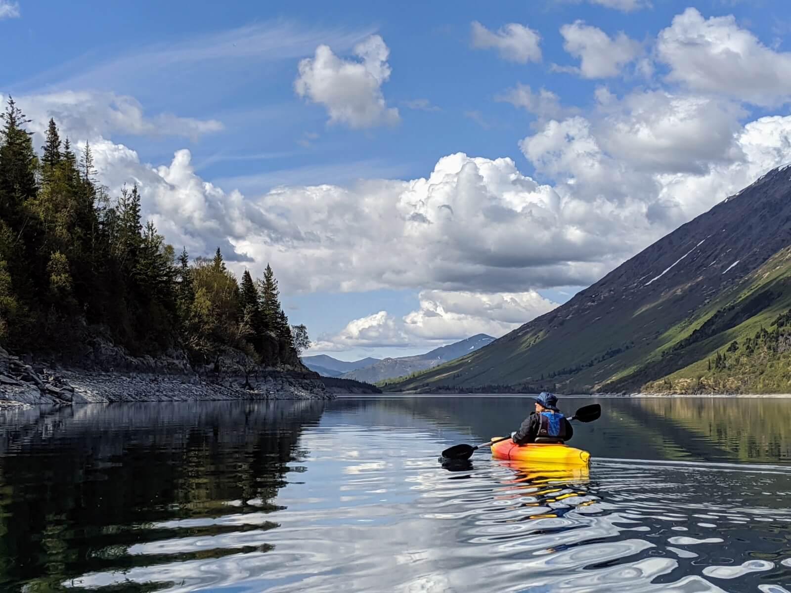 Kayaking on Cooper Lake.